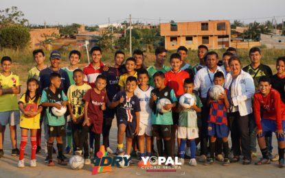 IDRY entregó implementación deportiva en La Bendición