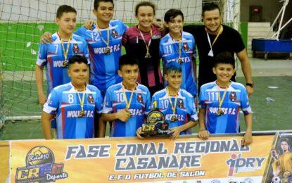 Casanare ya tiene sus representantes para la Fase Nacional del Torneo Creo de Fútbol de Salón