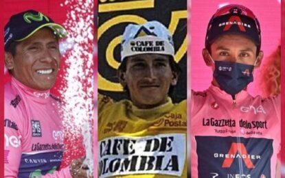 Los tres grandes del ciclismo colombiano