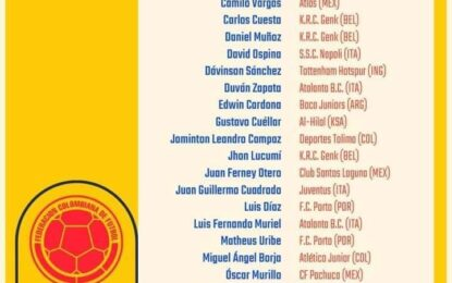 Rueda dio a conocer los convocados de Colombia para la Copa América